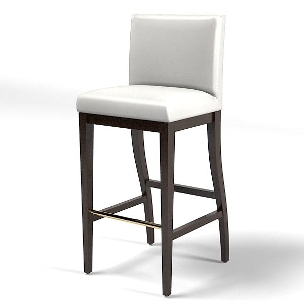 3d bar stool modern model