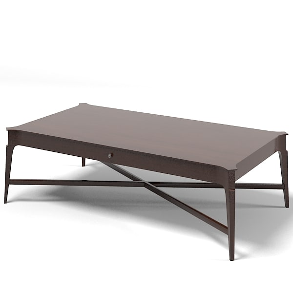 Barbara barry modern 3d model Barbara barry coffee table