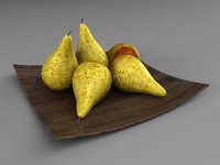 pear decoration plate 3d model