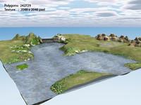3ds max terrain barrage electricplant