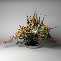 3d model of flower arrangement