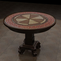 3d model coffee table inlay