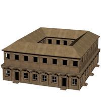 large roman house 3d model