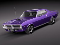 plymouth barracuda cuda hemi 3d model