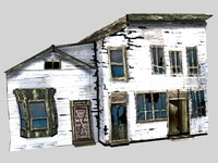3d abandoned post model