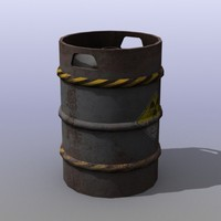 3d rusty beer barrel