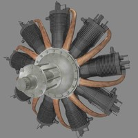 3d rotary engine rhone