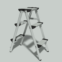 maya folding aluminium step ladder