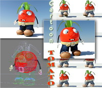 3ds max cartoon tomato