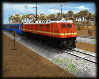 wap4e electric locomotive 3d ma