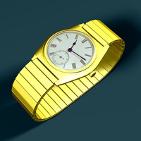 3d gold watch