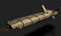 workhorse sleipnir troop carrier 3d model