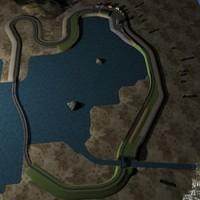 3d road track