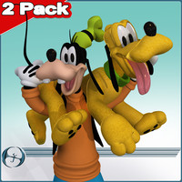 2 goofy pluto 3d 3ds