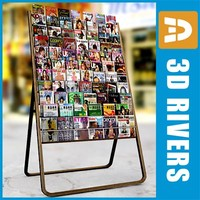 3d large display rack cds model