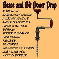 Brace and Bit Poser Prop