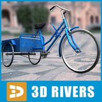 chinese bicycle trailer 3d model