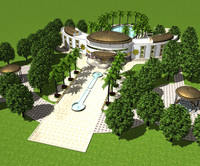 palace villa 3d model