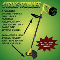 String Trimmer Poser prop