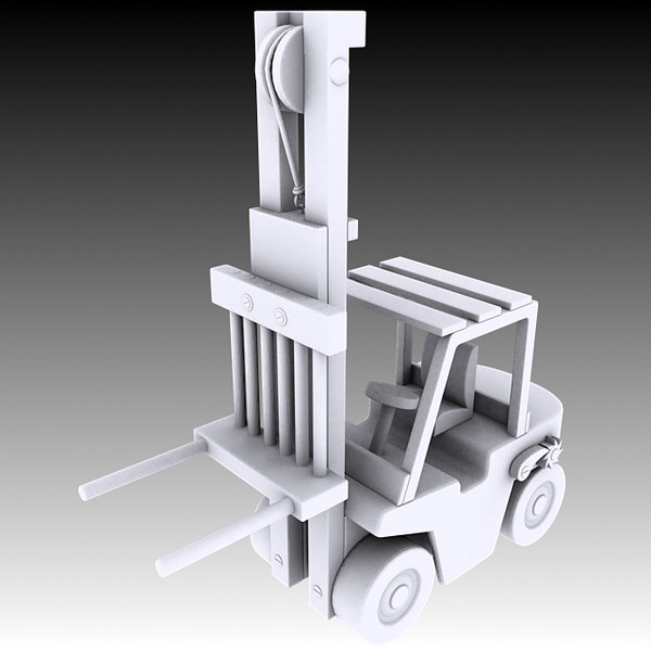toy forklift 3d model - Toy Forklift... by Plutonius3d