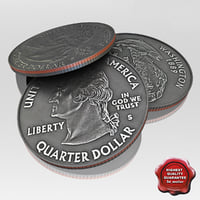 3d max usa coin 1 dollar
