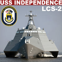 uss independence lcs-2 3d model