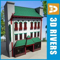 China town 3-storey building by 3DRivers