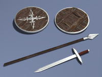 lwo sword spear shield