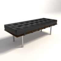 Mies Van Der Rohe Barcelona Bench small