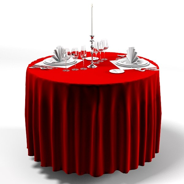 classic round dining table tableclothes appointments tableware restaurant cafe