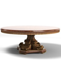 Jumbo mat-14r dining round table classic baroque