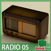 old radio poem 3d model