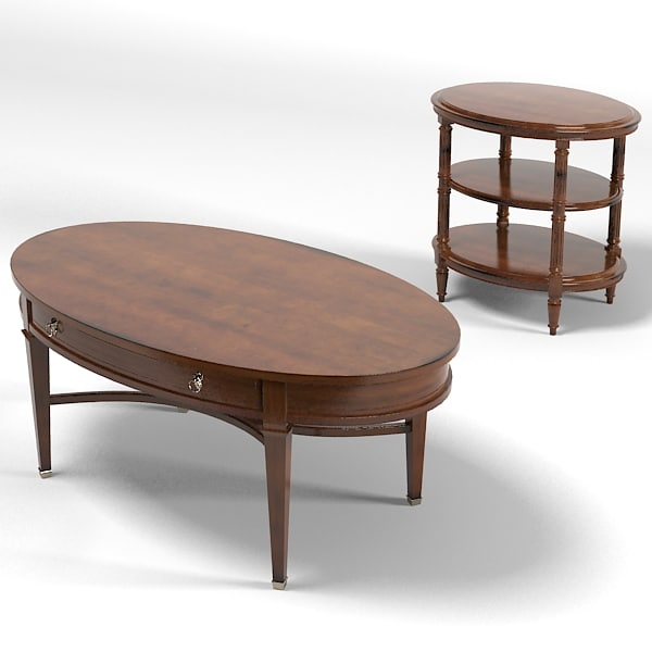 palmer home classic country traditional ovar round coffee side table osscasional cocktail.jpg