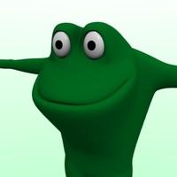frog character 3d model
