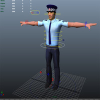 new zealand police man 3d model
