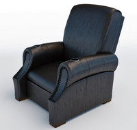 theatre leather chair 3d model