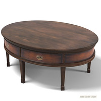 Ralph Lauren hunt  1806-40 oval classic country table cocktail coffee