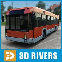 contemporary romanian trolley bus 3d obj