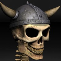 3d skeleton warrior