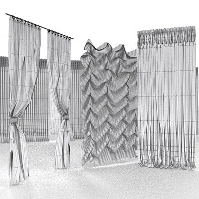 curtains 3d model - Curtains... by MISS3