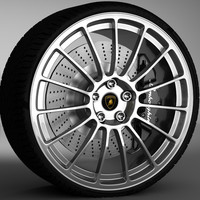 oz wheel lamborghini gallardo 3d model