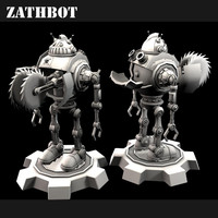 retro sci-fi robot 3d model