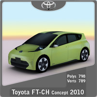 2010 toyota ft-ch concept 3d max