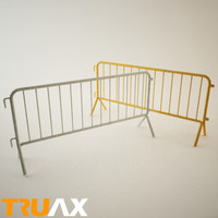 metal barrier truax 3d model