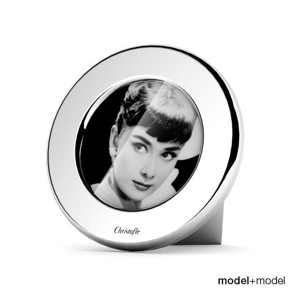 Christofle Fidelio round picture frame