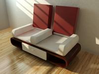 3d modern sofa transform model