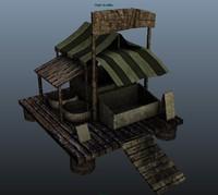 3d fish shack model