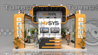 fair stand exhibition mysys 3d model