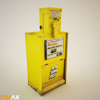 new york post newspaper vending 3d model
