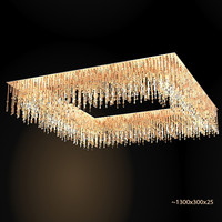lolli e memmoli ugolino system square crystal chandelier flush lamp modern contemporary ceiling